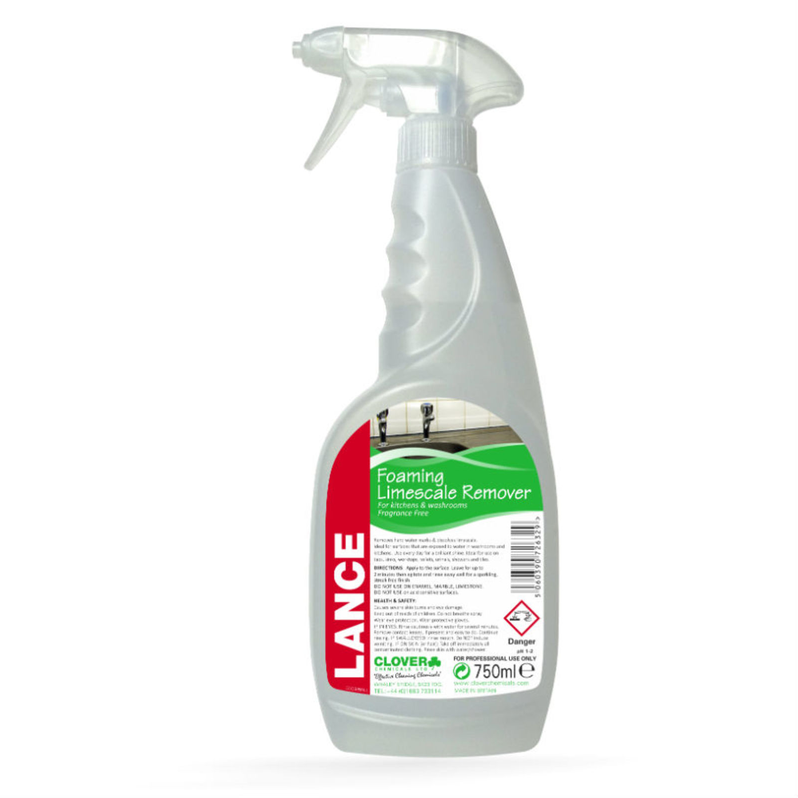 Lance Concentrated Foaming Limescale Remover Spray 750ml (single)