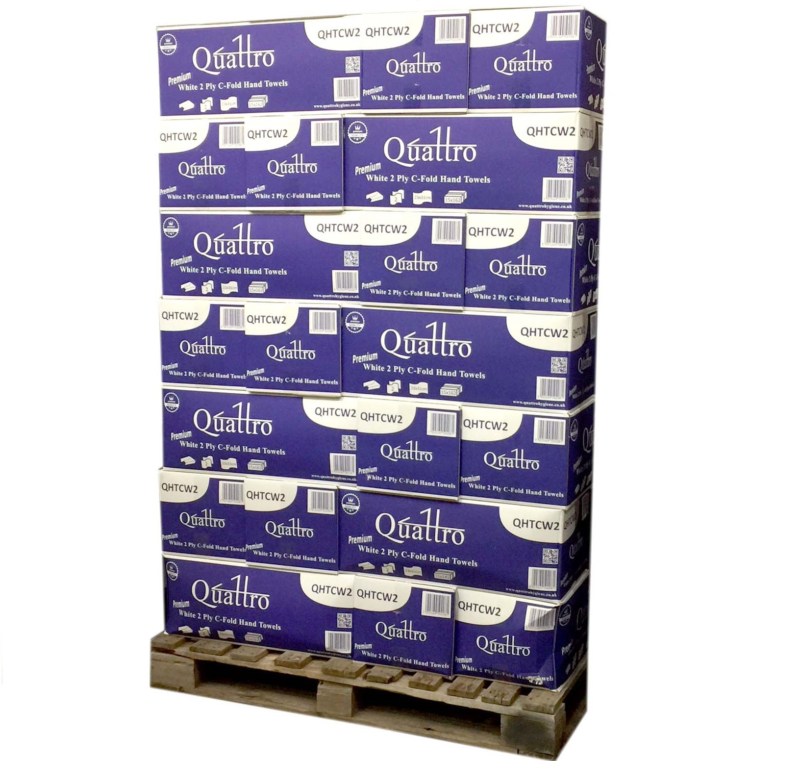 Pallet-of-2-ply-C-fold-Hand-Towels--35-cases----White-