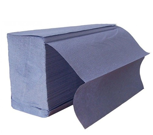 BLUE Z-fold 1ply hand towels 3000 23.5x24cm (20x150)