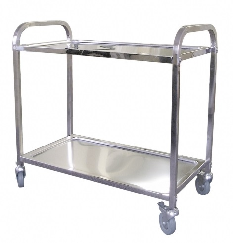 Rubbermaid Stainless Steel Service Trolley