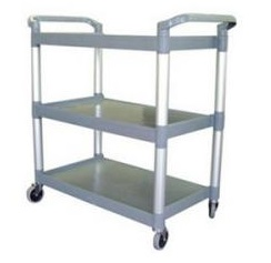 3-Tier Plastic Trolley 960x520x1070mm - Black