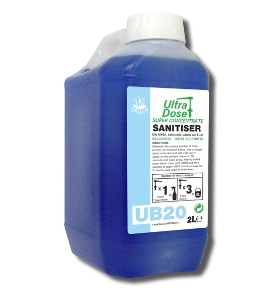 UB20 Sanitiser 2litre for Ultradose System