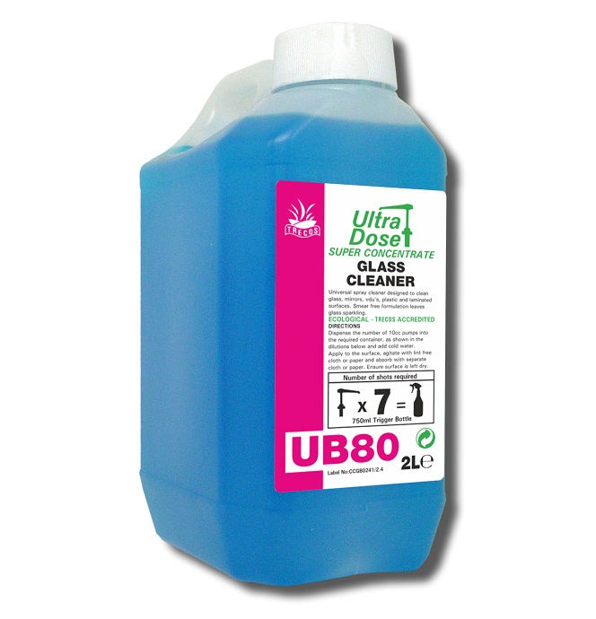 UB80 Glass Cleaner 2litre for Ultradose System