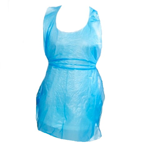 Disposable Blue Aprons 26-inch x 42-inch x 100